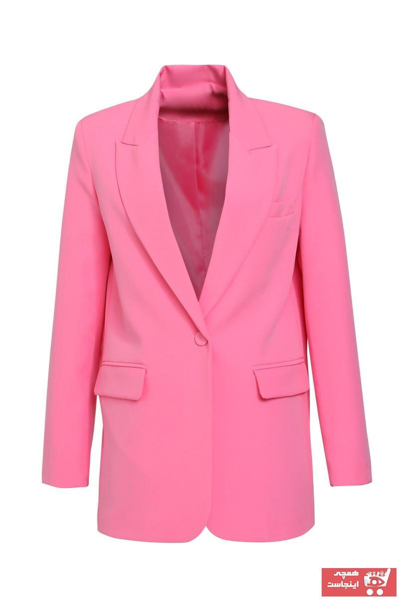 ژاکت زنانه مدل 2020 برند Quzu رنگ صورتی ty110358225