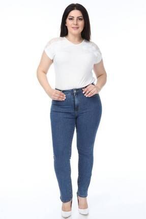 شلوار جین زنانه اینترنتی برند CEDY DENIM رنگ آبی کد ty111857014