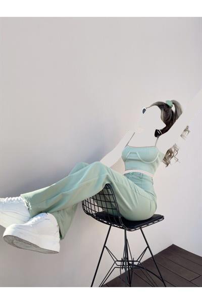 خرید ارزان شلوار فانتزی زنانه برند HOLLY LOLLY رنگ سبز کد ty112759882