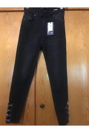 شلوار جین زنانه شیک و جدید برند trend butikk رنگ مشکی کد ty113768926