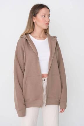 ژاکت بافتی فانتزی زنانه برند Addax رنگ قهوه ای کد ty114756602