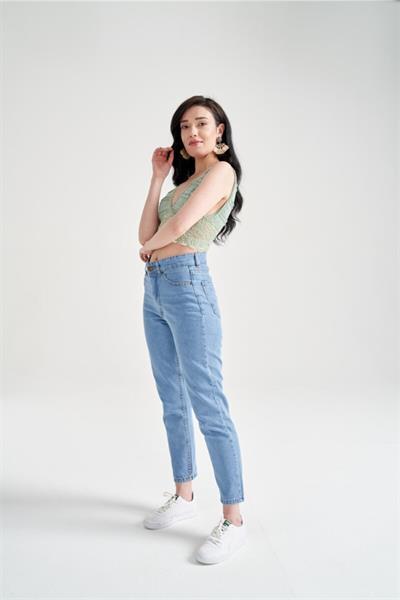 شلوار جین زیبا برند Hergün Moda رنگ آبی کد ty119733515