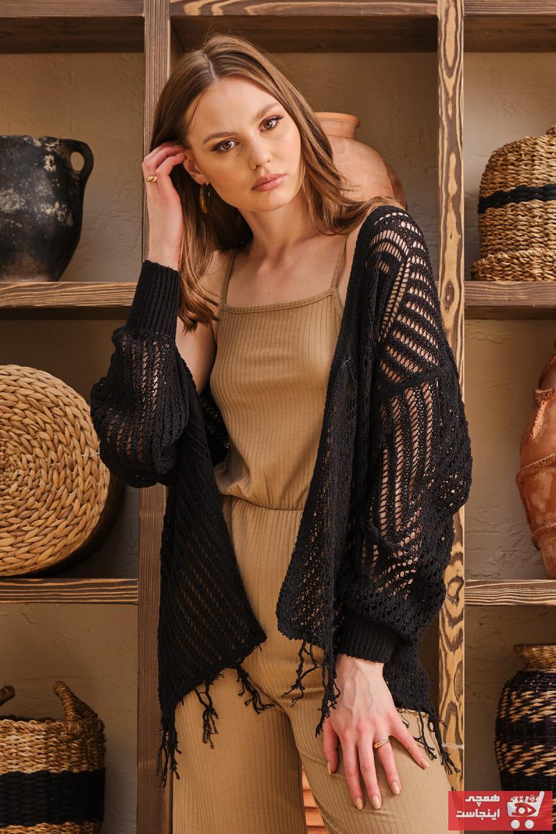 فروش ژاکت بافتی جدید برند Kailen Macoff Unique Black رنگ مشکی کد ty120179717