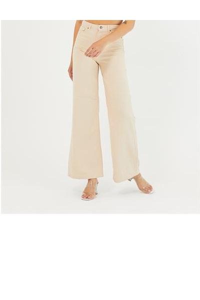 شلوار جین زنانه نگیندار برند Meissa رنگ بژ کد ty120716959