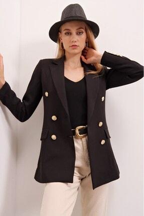 خرید پستی ژاکت شیک زنانه برند butikburuç رنگ مشکی کد ty121247219