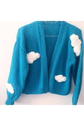 ژاکت بافتی زنانه ترک جدید برند Nazz Butik رنگ آبی کد ty122916692