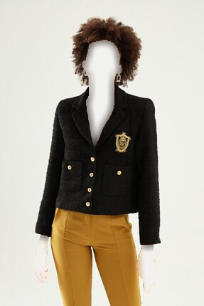 ژاکت زنانه خاص برند Quzu رنگ مشکی کد ty144387042