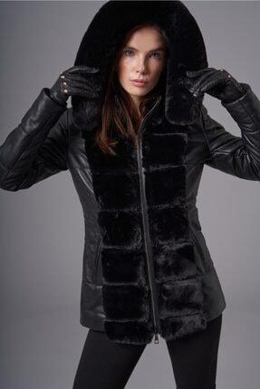 فروشگاه کاپشن چرم زنانه برند Deri Company رنگ مشکی کد ty146965927