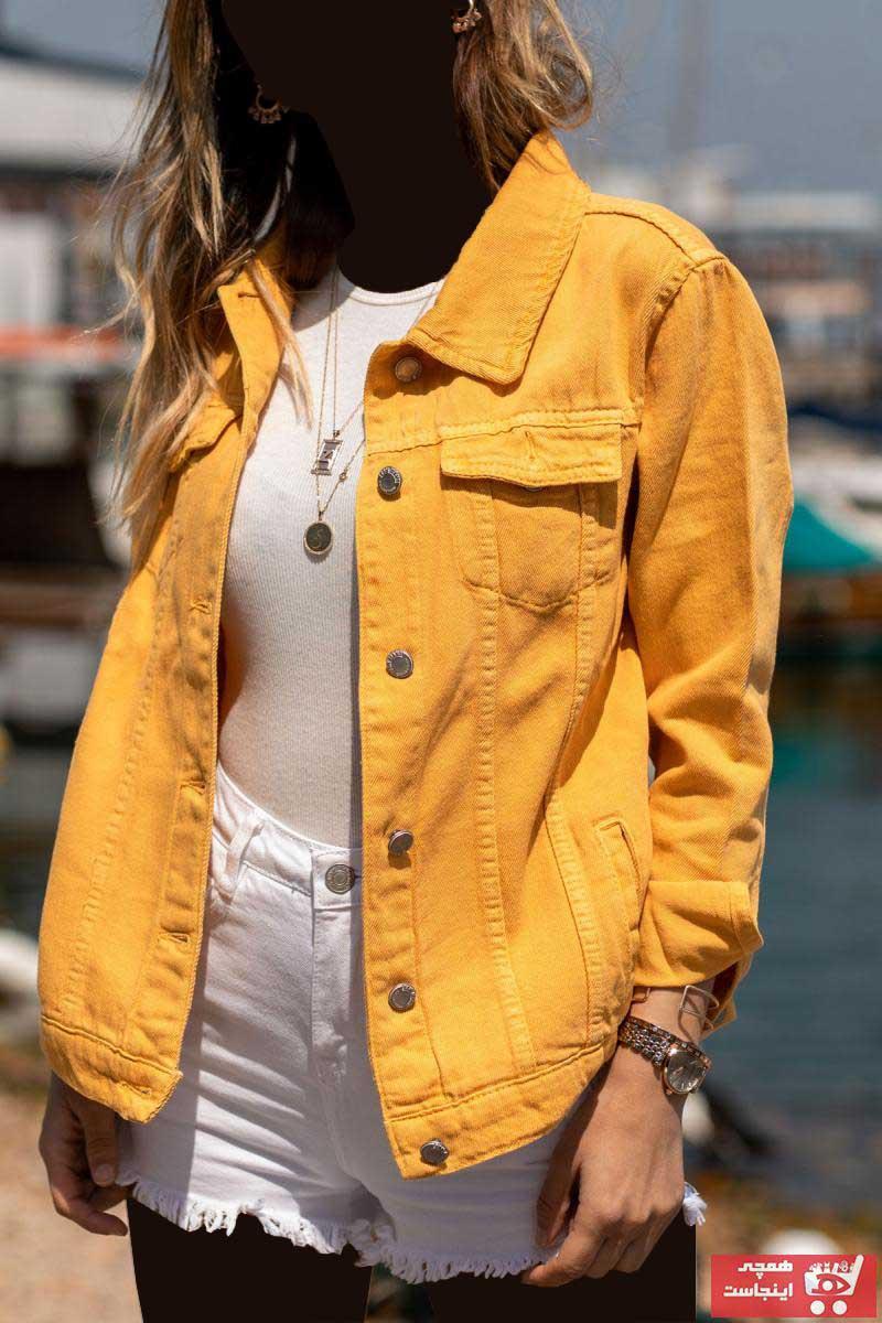 ست ژاکت زنانه برند XHAN رنگ زرد ty2757795