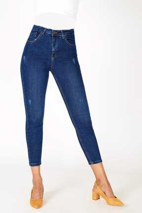 مدل شلوار جین زنانه  برند Addax رنگ لاجوردی کد ty4366341