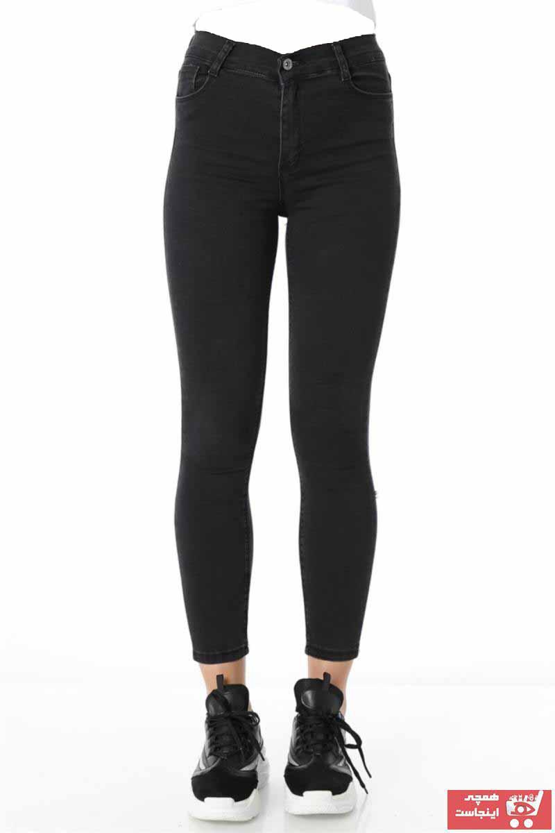 شلوار جین شلوار زنانه برند ZİNCiRMODA رنگ نقره ای کد ty54612381