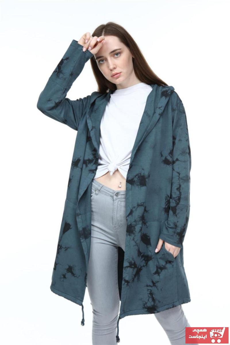 ژاکت بافتی زنانه مدل دار برند S-Ponder رنگ سبز کد ty70841449