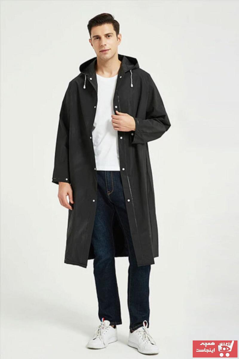 خرید پستی بارانی اورجینال زنانه برند Dream Plus رنگ مشکی کد ty76067776