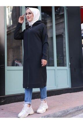 ژاکت بافتی زنانه ارزان برند TOFİSA رنگ مشکی کد ty77903515