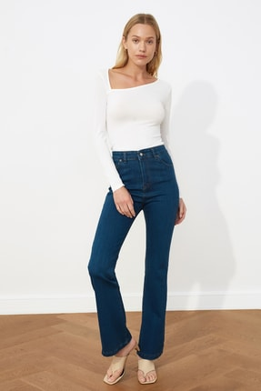 خرید پستی شلوار جین شیک زنانه برند ترندیول میلا ترک رنگ آبی کد ty78050515