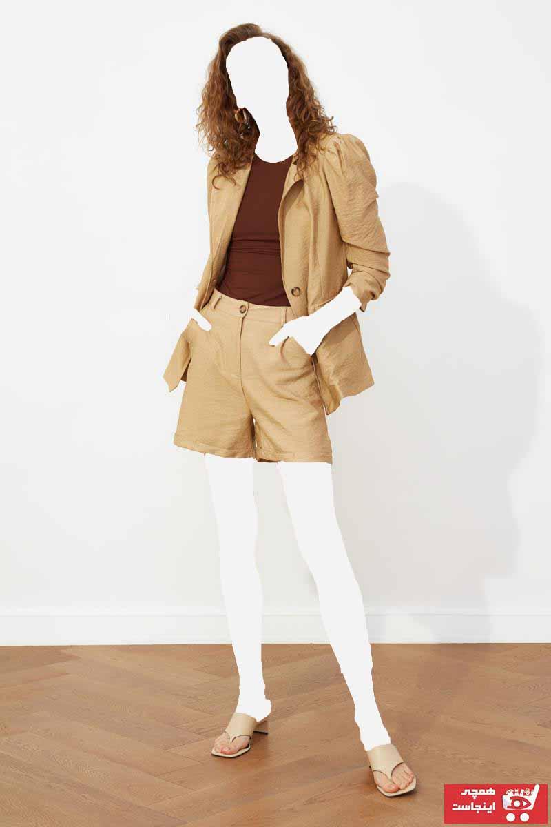 ژاکت زنانه برند ترندیول میلا رنگ بژ کد ty81077116