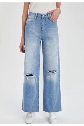 شلوار جین شیک برند دفاکتو ترکیه رنگ آبی کد ty82341099