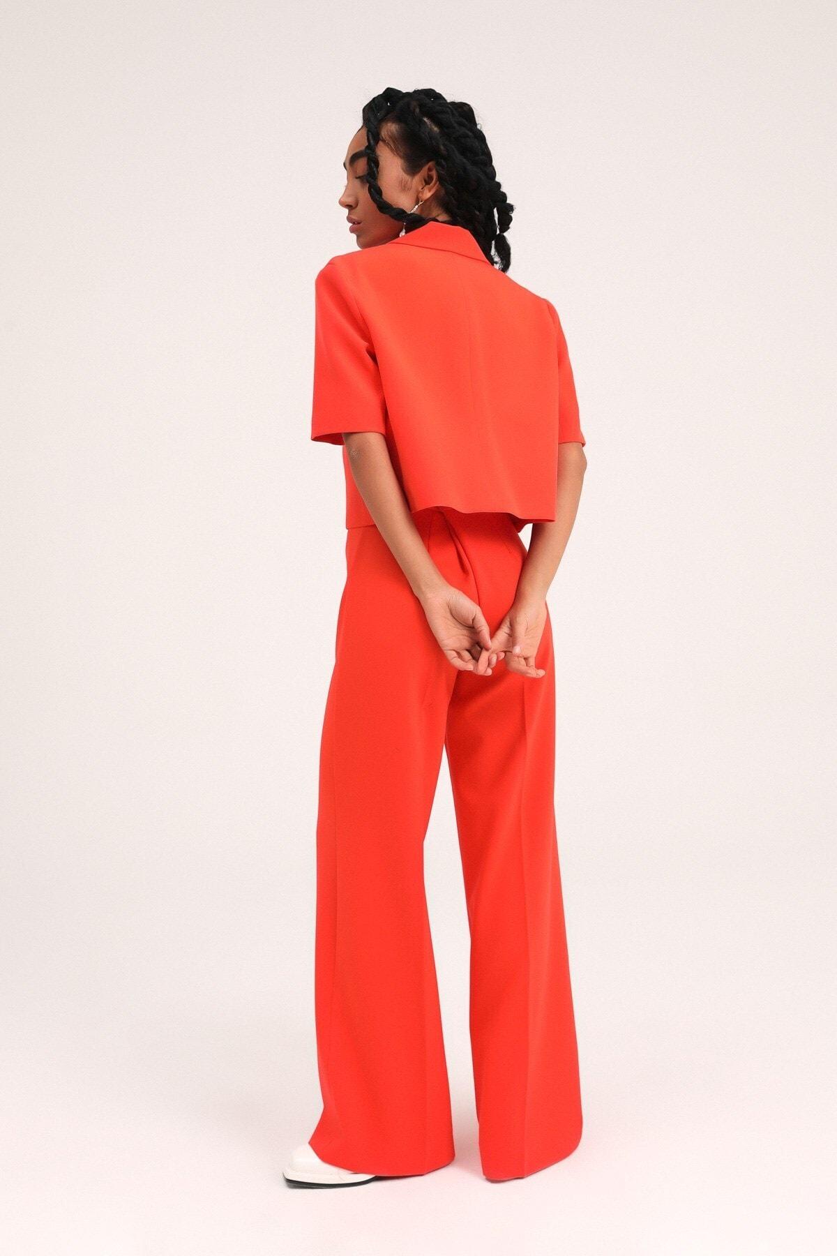 فروش اینترنتی ژاکت زنانه با قیمت برند Quzu رنگ نارنجی کد ty96845120
