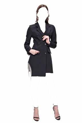 فروش ژاکت زنانه خفن برند butikburuç رنگ مشکی کد ty97796347