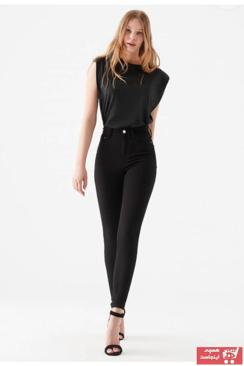 فروش پستی شلوار جین زنانه شیک جدید برند Harmony رنگ مشکی کد ty98630297