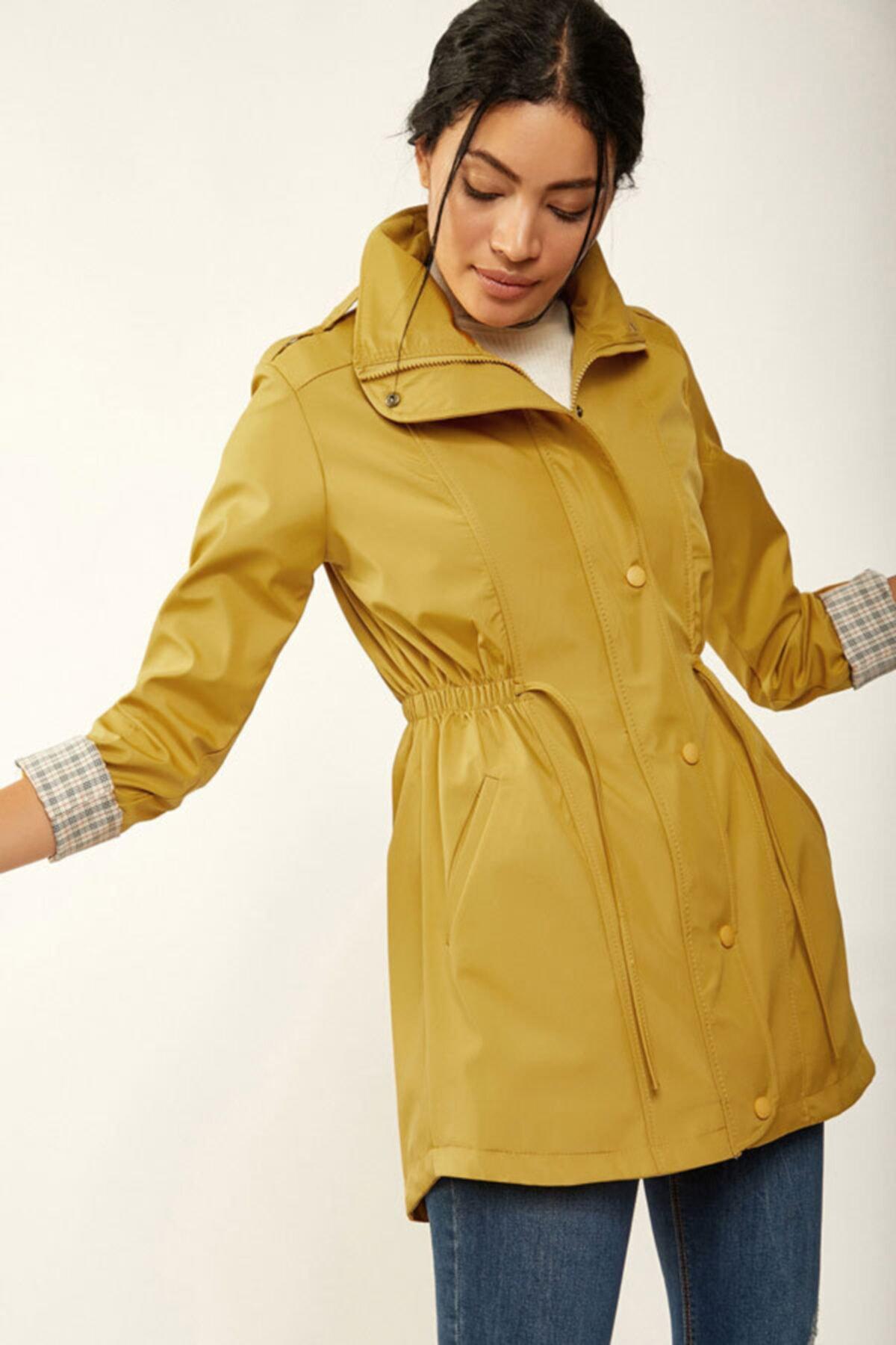 فروشگاه مانتو زمستانی زنانه برند Bigdart رنگ زرد ty108238429