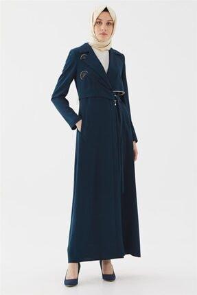مانتو زمستانی زنانه برند Vivencia رنگ لاجوردی کد ty109686207