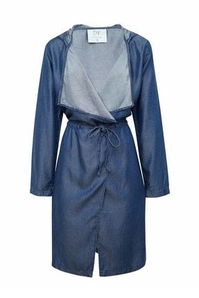 خرید اینترنتی مانتو زمستانی زنانه از استانبول مارک دفاکتو رنگ آبی کد ty38765172