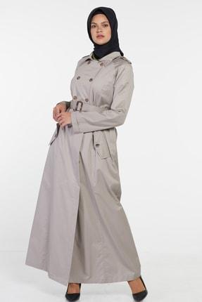 فروش مانتو زنانه خفن برند Tuğba رنگ بژ کد ty6319240