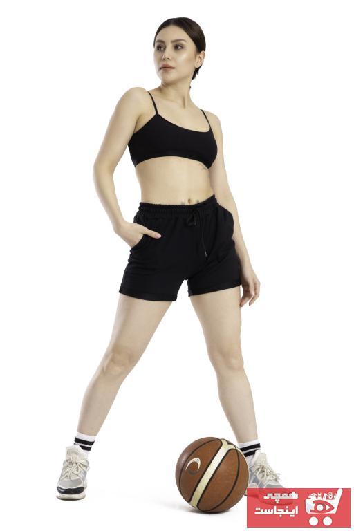 خرید پستی شلوارک ورزشی مردانه پارچه نخی برند TAMPAP رنگ مشکی کد ty100194614