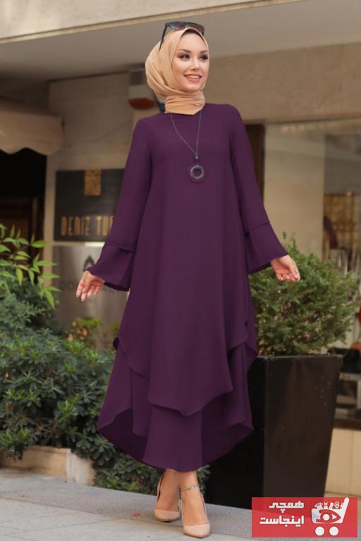 خرید ارزان تونیک فانتزی زنانه برند Neva Style رنگ بنفش کد ty100222181