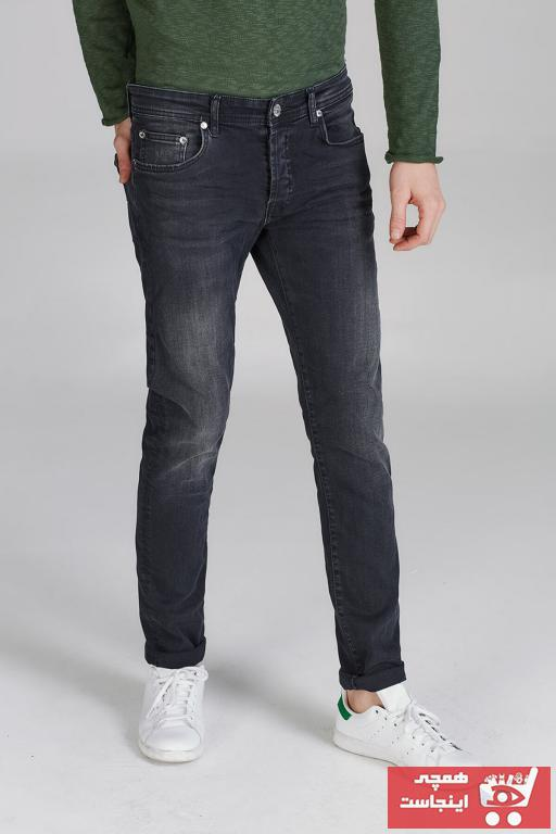 شلوار جین مردانه شیک برند ترک Ltb رنگ نقره ای کد ty100226773