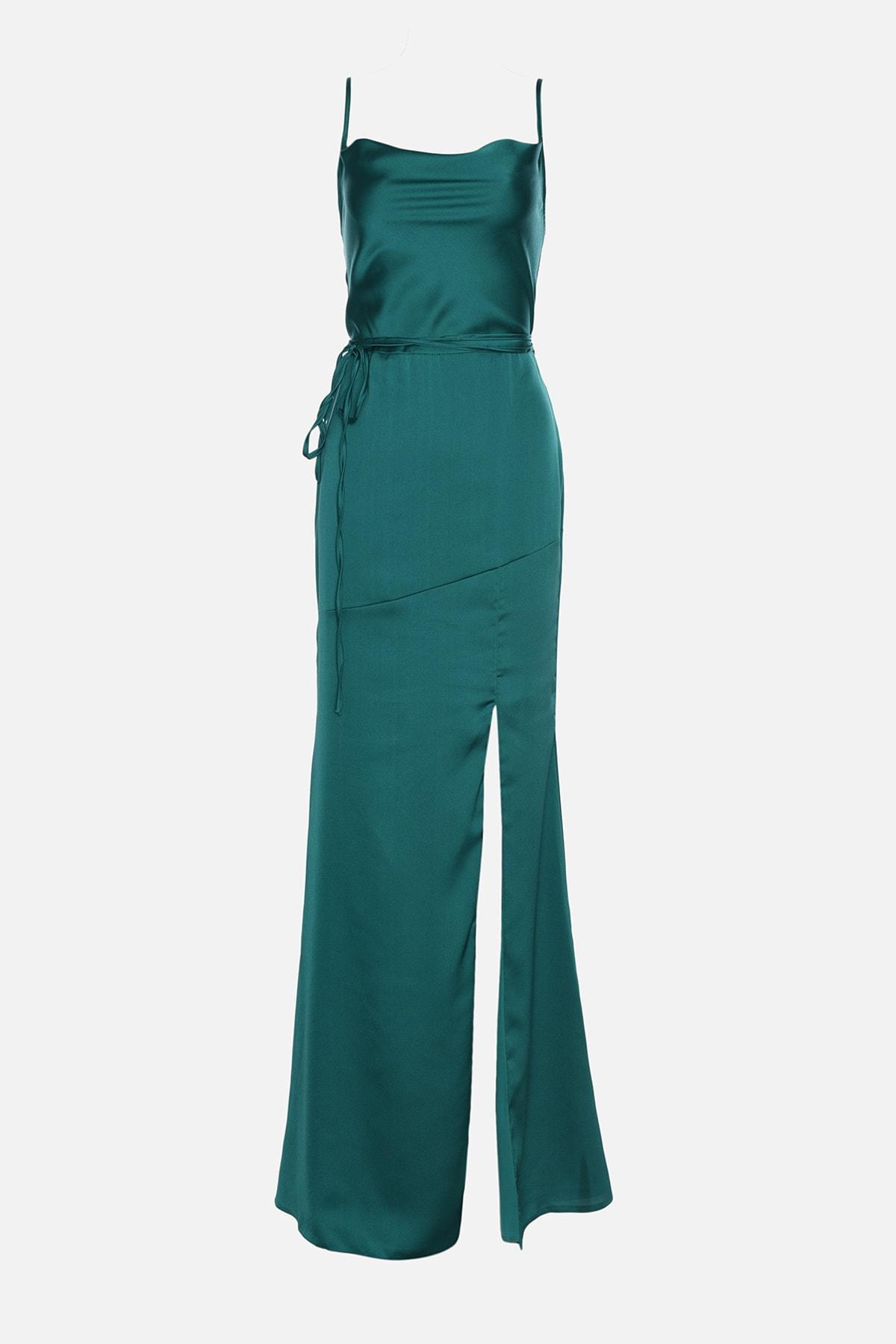 خرید اسان لباس مجلسی زنانه زیبا مارک ترندیول میلا رنگ سبز کد ty100289840