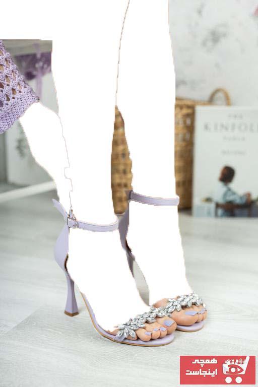 فروش کفش پاشنه بلند مجلسی زنانه فانتزی برند Favi رنگ بنفش کد ty100434105