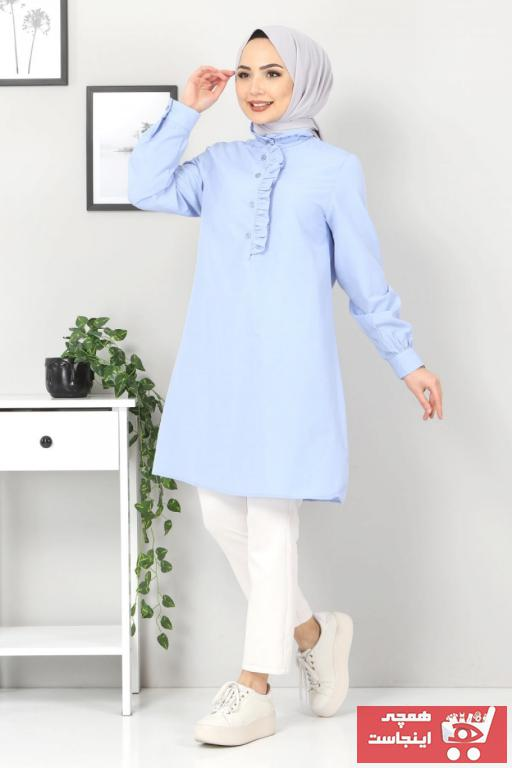 تونیک زنانه برند Tesettür Dünyası رنگ آبی کد ty100495174