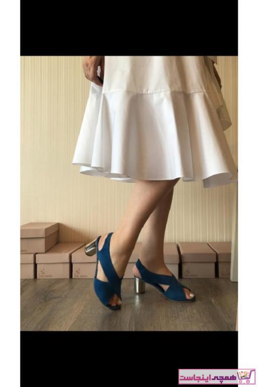 خرید اینترنتی پاشنه دار زنانه برند MİLARNU رنگ آبی کد ty100660168