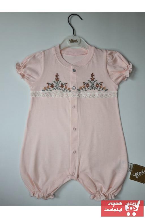 سرهمی نوزاد دخترانه مارک دار برند Flexibaby رنگ صورتی ty101000954