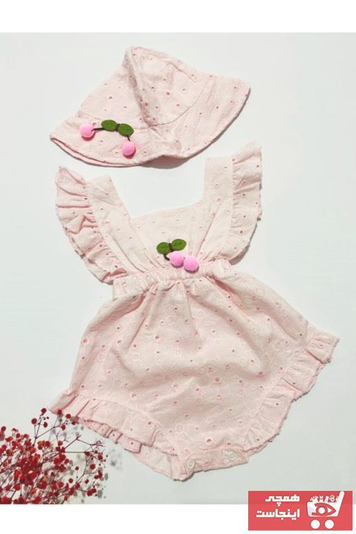 سرهمی نوزاد دخترانه مدل Tufitto Baby رنگ صورتی ty101050113