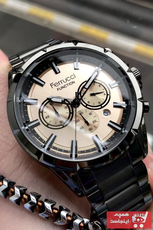خرید ساعت مچی مردانه  اورجینال برند Ferrucci رنگ نقره ای کد ty101080076
