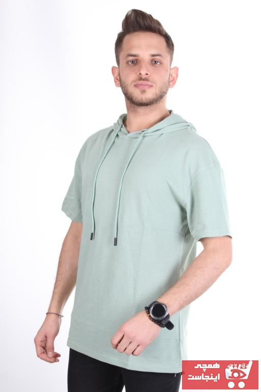 فروش تیشرت ورزشی مردانه نخی برند TREND YAŞAR رنگ سبز کد ty101098341