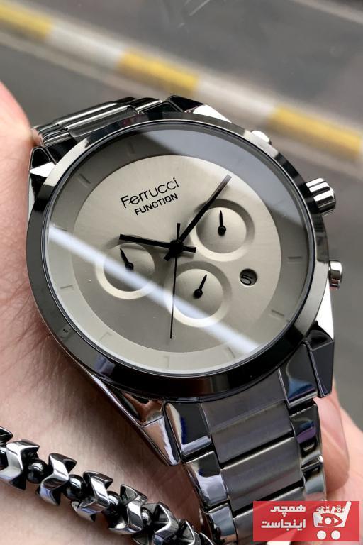 فروش پستی ساعت مردانه اورجینال برند Ferrucci رنگ نقره کد ty101105837