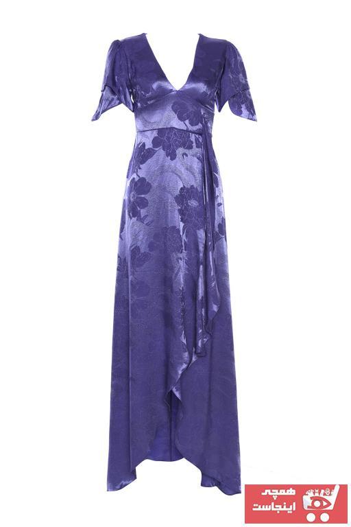 لباس مجلسی زیبا برند ترندیول میلا رنگ بنفش کد ty101149703