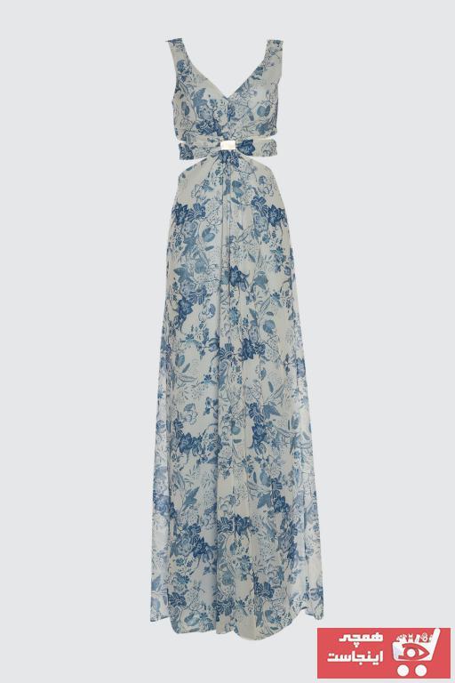 خرید انلاین لباس مجلسی طرح دار مارک ترندیول میلا کد ty101149706