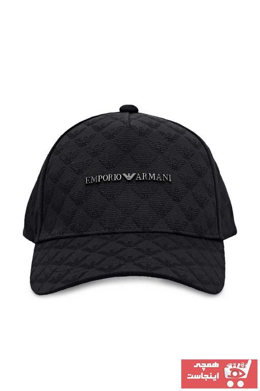 خرید کلاه مردانه ترک جدید برند امپریو آرمانی رنگ مشکی کد ty101200354