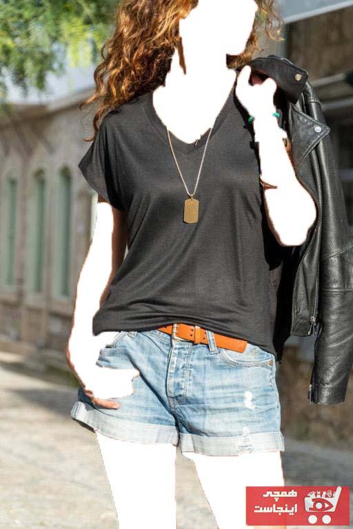 خرید نقدی تیشرت زنانه ترک برند TrendNera رنگ مشکی کد ty101224397