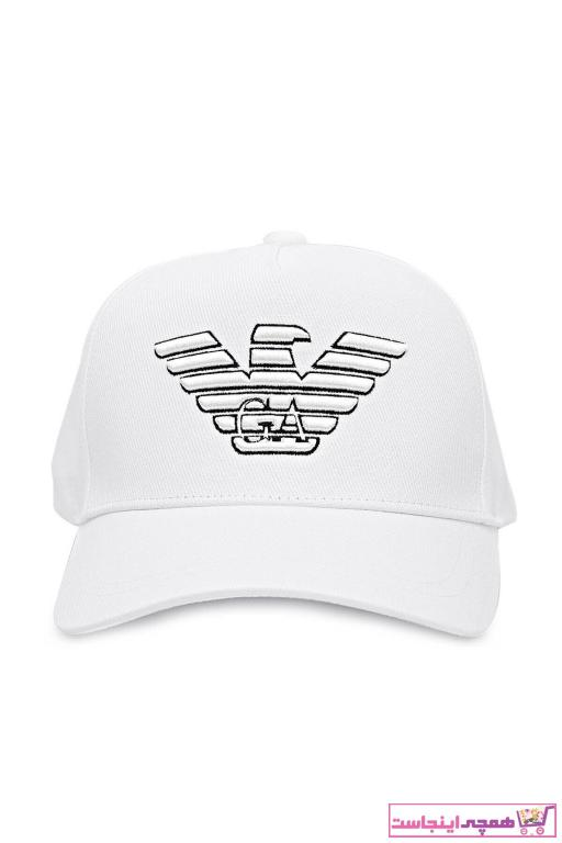 کلاه مردانه کوتاه برند امپریو آرمانی رنگ بژ کد ty101251647