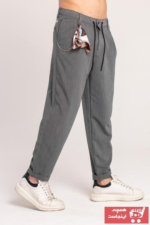 خرید انلاین شلوار جدید مردانه شیک برند Catch رنگ نقره ای کد ty101417002