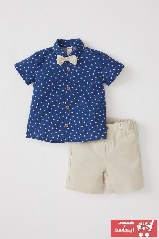 قیمت ست لباس نوزاد پسرانه مارک دفاکتو رنگ لاجوردی کد ty101727034