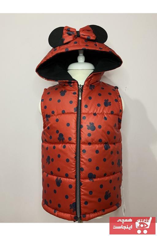 جلیقه دخترانه حراجی برند MiniKidsDero رنگ قرمز ty101939702