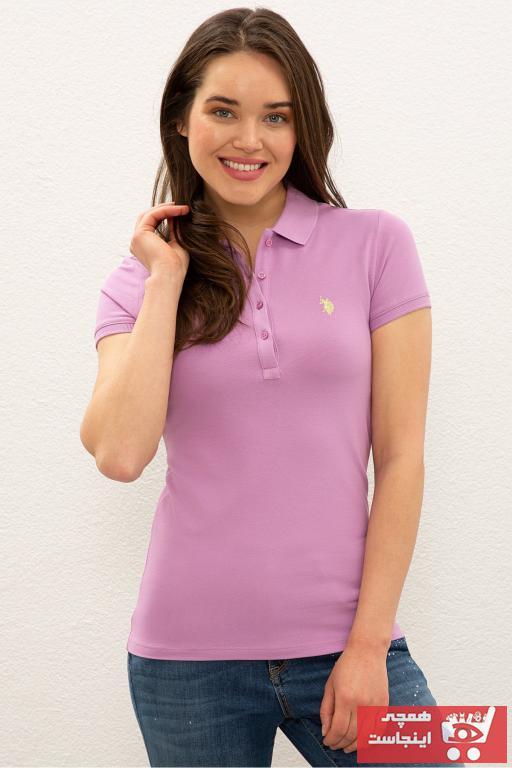 خرید نقدی پولوشرت زنانه ترک  مارک U.S. Polo Assn.برند US Polo رنگ بنفش کد ty102000964