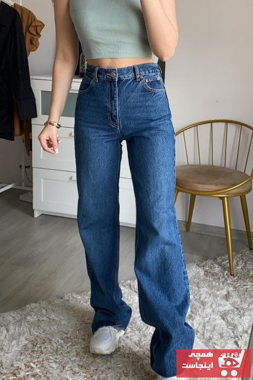 خرید شلوار جین زنانه شیک برند Narferita رنگ لاجوردی کد ty102062485